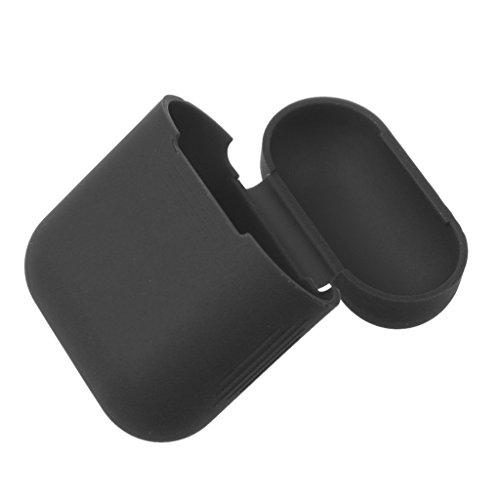 Sharplace Silikon Hülle Schutzhülle Case Tasche für Apple Airpods 5 Farben - Schwarz - Haar-farbe-safe