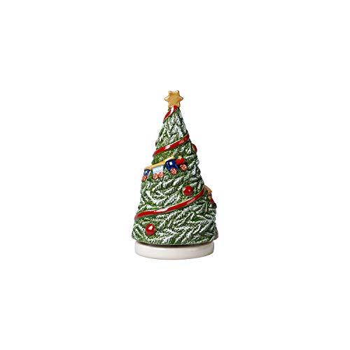 Villeroy & Boch Nostalgic Melody Baum drehend, Porzellanfigur aus Hartporzellan mit Spieluhr O Tannenbaum, Metall/Kunststoff, grün