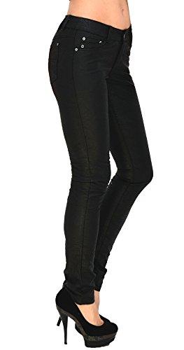 by-tex Pantalon femme Jean femmes slim pantalon en cuir pour femmes cuir simili pantalon H12