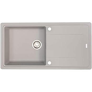 Franke 114.0476.404 SID 611-78 Granite Kitchen Sink with a Single Bowl Stone Grey