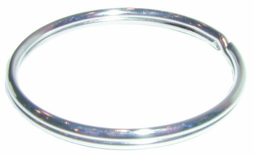 Anneaux brisés en acier nickelé 13mm (lot de 16)