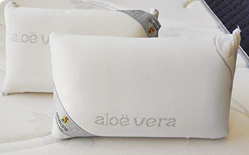 Seasons - Pack de 2 almohadas viscoelásticas de viaje, 43x22x10cm