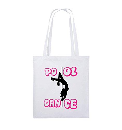 Comedy Bags - Pool dance - Jutebeutel - lange Henkel - 38x42cm - Farbe: Schwarz / Weiss-Neongrün Weiss / Schwarz-Pink