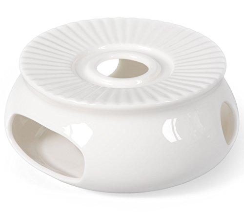 Porzellan Stövchen/Teewärmer für Teekanne in weiß, Ø 14,5cm, Original Aricola®