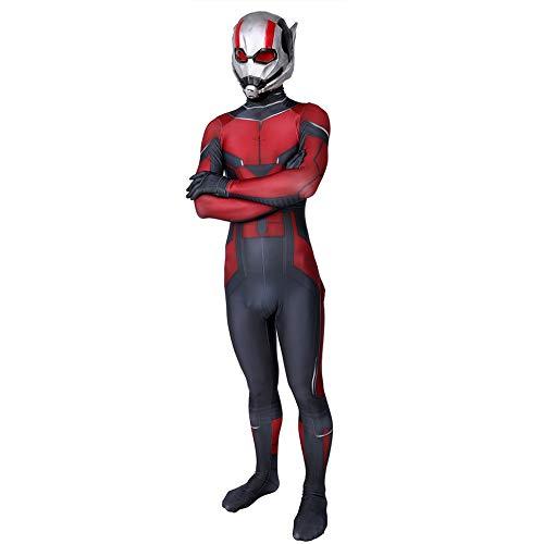 Ant Man Kostüm Erwachsene Verkleidung Kinder Junge Superhelden Kostüme,Cosplay Anzug,Halloween Karneval Kostüm,Partei Kostüm,Child-M (Einfache Und Halloween-kostüme Männlich Schnelle)