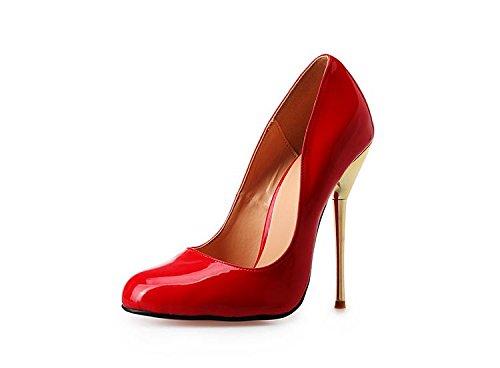 HeiSiMei Womens Fersen / reizvolle / Stilett-Ferse / spitze Zeheschuhe / Nachtklub / Partei u. Abend / Büro u. Karriere / Pseudomutter-hohe Absätze / Männer / Unisex RED-49