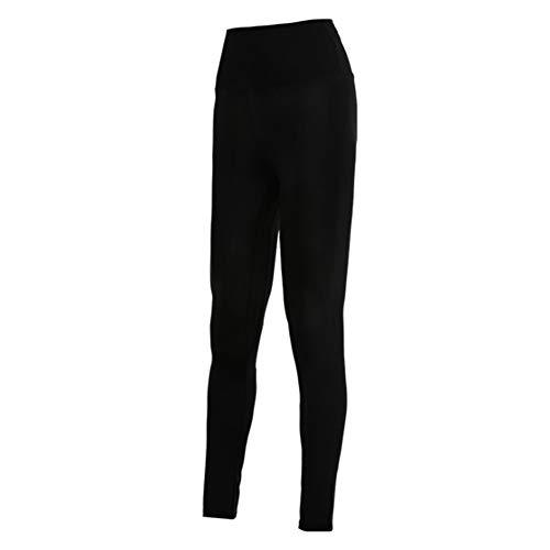 Man9Han1Qxi Frauen Laufen Yoga Strumpfhosen Hohe Taille Hosen Schweiß Schweiß Leggings Hosen Slim Fit Sporthose Enge Hosen Black L -