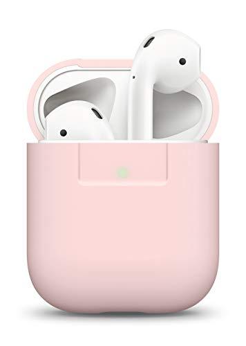 elago Silikonhülle Kompatibel mit Apple AirPods 1 & 2 (LED vorne sichtbar) - [Unterstützt kabelloses Laden] [Stoßfeste Schutzhülle] [Perfekt Passt Hülle] - Rosa