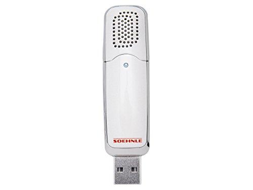 Soehnle 68062-Aromatizador USB portátil, difusor de Aroma, Blanco, Acero Inoxidable, 1x9.5x2.2999999999999998 cm