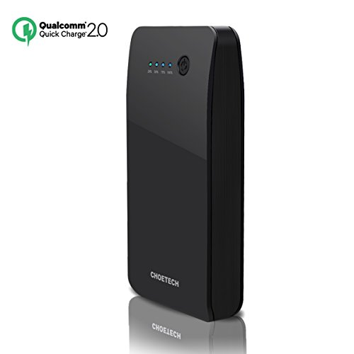 Batera-Externa-Quick-Charge-20-15600mAh-CHOE-Power-Bank-con-dos-Entradas-Apple-y-Android-de-QC-20-y-dos-Salidas-USB-A-QC-20-y-Estndar-para-iPadiPhone-Samsung-Galaxy-S7S7-EdgeS6-S6-EdgeLG-G5Nexus-6-y-m