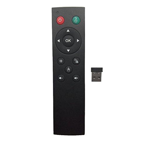 Gazechimp 2.4G Fernbedienung Tastatur Wireless Funktastatur Mit Infrarot-Fernlern Für Tv (Wireless-tastatur Eine Klare)