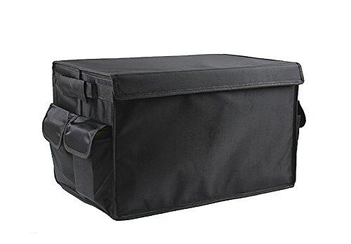 RUIRUI Pieghevole Bagagliaio Organizzatore lavabile impermeabile Cargo Box portaoggetti con coperchio perfetta per lo shopping esterna d'escursione di campeggio di picnic (nero) - Nero Cargo Box