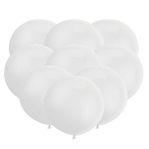 18 Zoll Großer Runder Ballon Latex Riesiger Luftballone Jumbo Dicke Ballone für Foto-Aufnahmen / Geburtstag / Hochzeitsfest / Festival / Event / Karnevals-Dekorationen 30ct / pack Weiß -