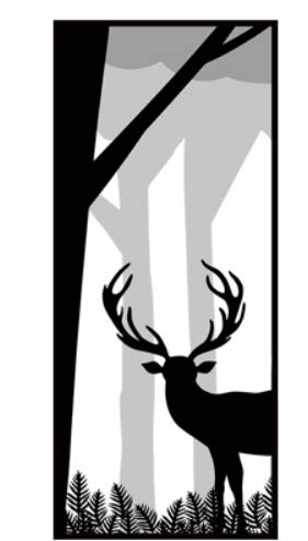 Moose House (House Door Sticker Moose Self-Adhesive Bedroom Door Sticker Decoration Modern Simple Pure Black Tie Painting)