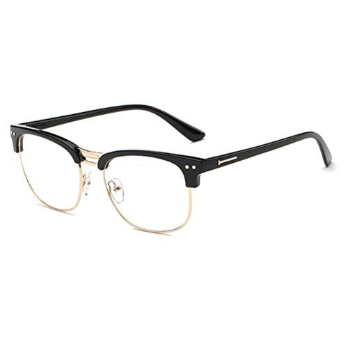 Zhhlaixing Mode Retro Flat Radiation-Protective Eyeglasses Frame Spectacles Glasses Unisex