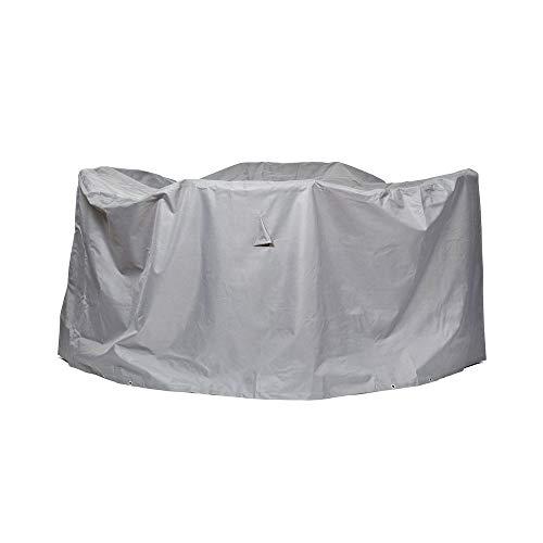 Schutzhuellenprofi Bâche de protection en polyester Oxford 600D pour salon de jardin rond Gris clair Taille M Diamètre 125 cm