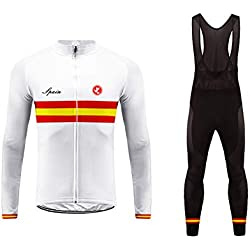 BurningBikewear Uglyfrog Herrenbekleidung Winter-Herbst-Set Radsportbekleidung Langarm und durchgehender Reißverschluss + lange Hosen Atmungsaktiv und schnell trocknend MESQXFCX09