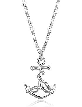 Elli Halskette Anker Anhänger Maritim Hanseatisch 925 Sterling 45cm