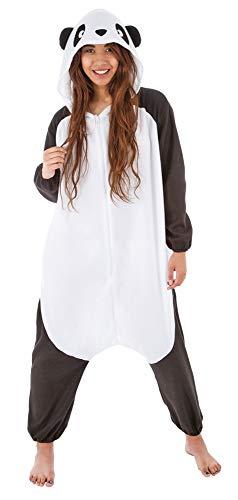 Kostüm Plüsch Panda - Kigurumi Skikostüm Panda für Damen - 164cm - Plüsch Verkleidung Tierkostüm Karneval Mottoparty Festival
