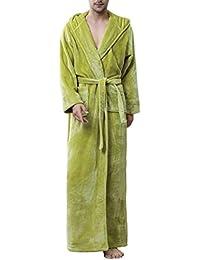 851c47782d DSNOW Unisex Luxury Super Soft Velour Towelling Bath Robe Dressing Gowns  Bathrobe Terry Towel Housecoat Nightwear