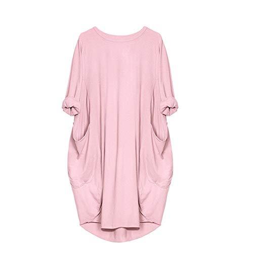 80er Jahre Ideen Für Ausgefallene Kleid - LOPILY Damen Sommerkleider Casual Pocket Strand