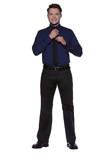 Karlowsky Camicia da uomo Miro a maniche lunghe blu navy