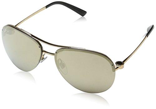 Bulgari Unisex-Erwachsene 6081 376/5A Sonnenbrille, Schwarz (Pink Gold), 61
