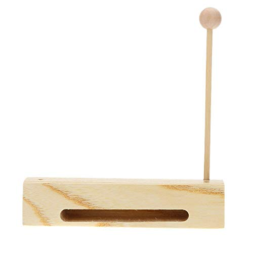 SODIAL(R) Wooden Percussion Block Woodblock with Mallet Exquisite Kid Children Musical Toy Percussion Instrument