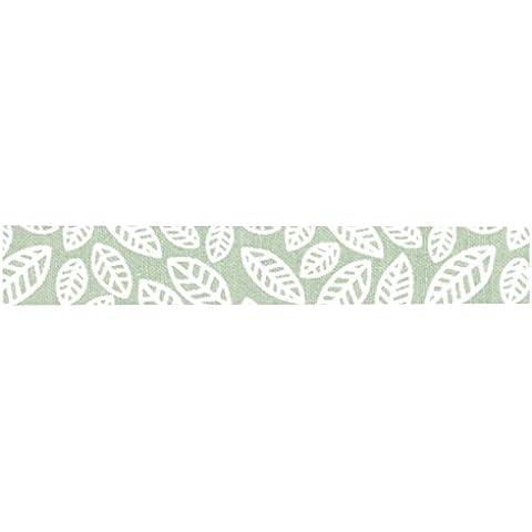 dailylike lkt100Rotolo di tessuto adesivo Fogli di autunno cotone verde mandorla 6,5x 6,5x 1,5cm - Tessuto Fogli Cotone