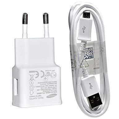 Original SAMSUNG ETA-U90EWE 2in1 Ladegerät/Ladekabel/Netzteil 2000mAh + Micro USB Datenkabel ECB-DU4AWE + Stecker (Externer Akku Für Samsung S3)