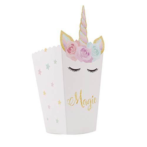 Sperrins Popcorn Box Pack von 12 Einhorn Thema Party Dekoration Set perfekt für Geburtstag Themenpartys