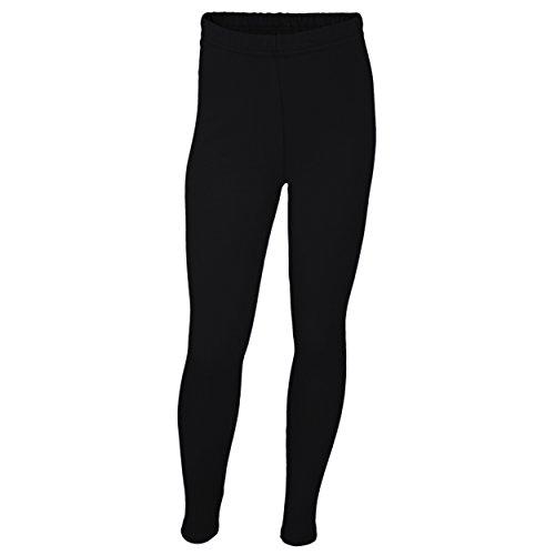 Mädchen Leggings Lang Baumwolle Blickdicht Kinderhosen Leggins Kinder Stoffhose Schwarz Weiß Blau, Farbe: Schwarz, Größe: 146