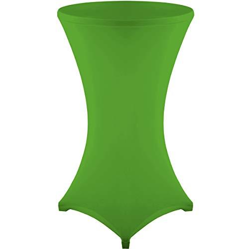 Gräfenstayn Fodera per tavolino da bar Diana certificate Öko-Tex Siegel Standard 100 - di diversi colori e dimensioni per tavolini del diametro di Ø60 cm Ø70 cm Ø80 cm (Verde, Ø 60)