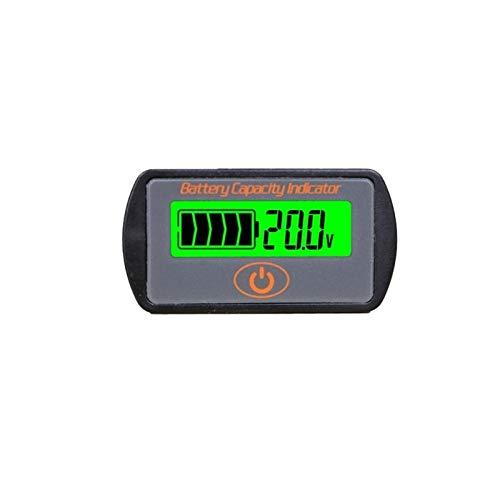 Mnszhf 12v / 24v lcd regolabile per auto batteria al litio al piombo voltmetro voltmetro tester di tensione tipo touch indicatore di capacità della batteria, nero