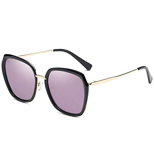Thirteen Polarisierte Sonnenbrille Frauen Rundes Gesicht Bunte Sonnenbrille Frauen Uv-Schutz Ist Leicht Und Komfortabel, Geeignet Für Dekoration, Reise, Fahren Und Sonnenschirm. (Color : Purple)