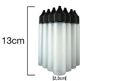 10x Unicorn Flasche 30ml Nadelflasche Liquidflasche für E-Liquid E-Zigaretten elektrische Zigaretten - verbesserte Version - kein Durchdrehen oder Auslaufen von KAY