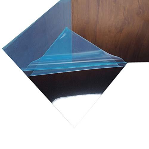 9 Stücke Platz Spiegel Wandaufkleber Spiegel Blätter Selbstklebende Flexible DIY Dekorative Kombinierte Bewegliche Spiegel Aufkleber 15X15 cm - Silber - Spiegel, Blätter Flexible