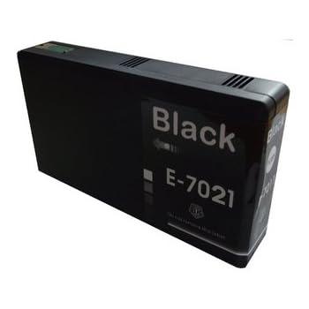 Epson T7021 Noir Cartouche d'encre Compatible pour WorkForce Pro WP-4535 DWF WP-4525 DNF WP-4515 WP-4500 Series WP-4595 WP-4095 WP-4025 WP-4015 WP-4000 WP-4545 DTWF - Haute Capacité