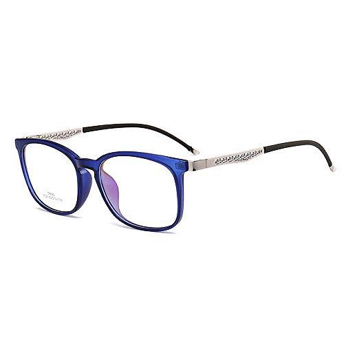 Herren Outdoor Freizeit Plain Retro Unisex Rahmen Sonnenbrille Retro Style Für Herren Damen TR90 Studenten Sonnenbrille UV Schutz Classic Rimmed Lady Brillen (Farbe: Blau)
