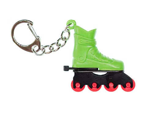 Miniblings Rollschuh Schlüsselanhänger grün Inline-Skates Rollschuhe Sport Skate