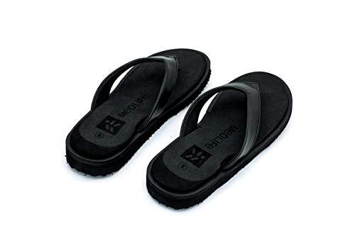 MEDLIFE Women's Rubber Diabetic and Orthopedic Footwear - Black (4, Black)
