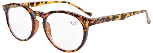 Ovale runde Federscharniere Brillen Stil Tortoise Rahmen +1.0