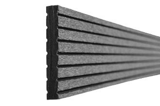 Woodstore Handelsgesellschaft ZABA106548 Bpc/ WPC Abschlussprofil, 10 x 65 x 2900 mm, für Terrassendielen, Grau