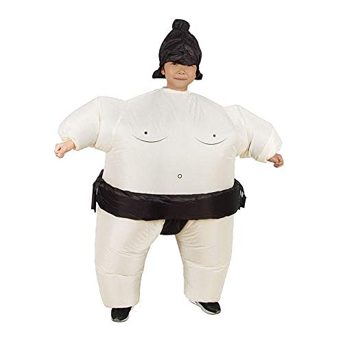 Eulan Funny Sumo Costume Inflatable Sumo Wrestler Wrestling Suits Halloween Christmas Party Cosplay Fancy Dress, Child/Adult (Halloween Inflatables)