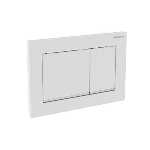 Geberit Betätigungsplatte OMEGA30 f 2-Mengen-Spülkästen hochglanz-chrome/seidenglanz/hochglanz, 115080KH1