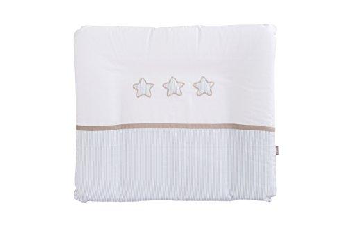 Träumeland tt16317 Matelas à langer Rêve étoiles avec housse en coton Bleu