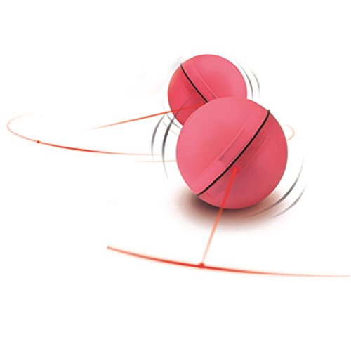 Handfly Haustier interaktive Spielzeug für Katze- Elektronisches Drehendes Licht Spielzeug für Katzen Automatisch LED Licht Point Spielzeug für Katze,Weiß und Rosa,Batterien im Lieferumfang enthalten