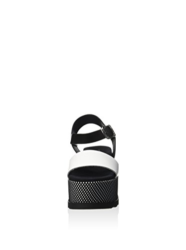 Fornarina PEFAZ9513WCAA100 Sandalo zeppa Donna Nero