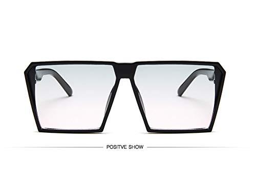 WSKPE Sonnenbrille,Sonnenbrille Mädchen Junge Kinder Sonnenbrille Mit Rechteckigem Rahmen Uv400 Brillen Fashion Kids Eyewear Schwarzen Rahmen Grün Rosa Linse