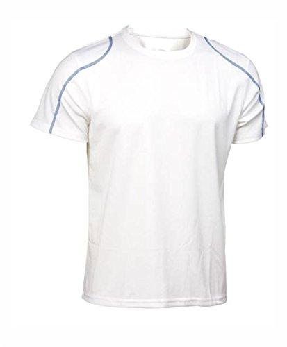 Asioka 75/09N Camiseta de Manga Corta, Unisex niños, Blanco/Royal, 5XS 4-6